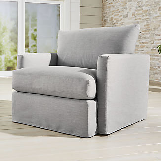 Lounge II Petite Outdoor Slipcovered Chair