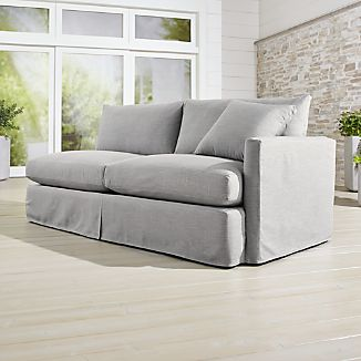 Lounge II Petite Outdoor Slipcovered Right Arm Sofa