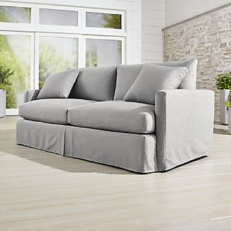 "Lounge II Petite Outdoor Slipcovered 83"" Sofa"