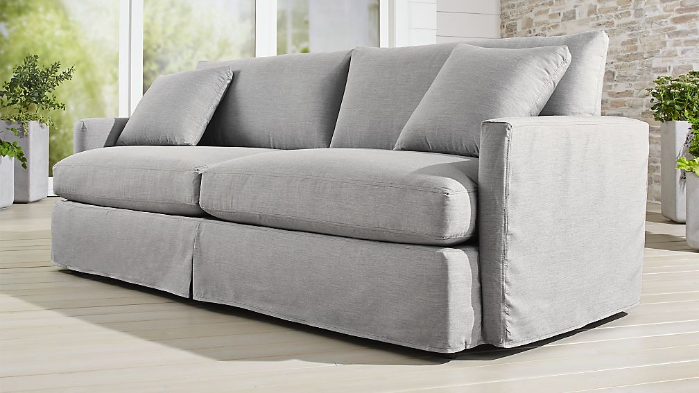 Slipcover Only For Lounge Ii Pee Outdoor 93 Sofa Reviews Crate And Barrel