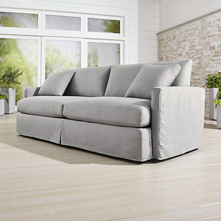 Lounge II Petite Outdoor Slipcovered 93\