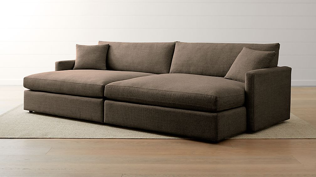 Lounge II Petite 2-Piece Double Chaise Sectional Sofa - Image 1 of 3