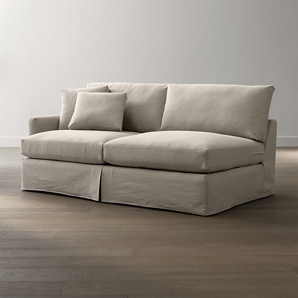 Lounge Slipcovered Left Arm Sofa