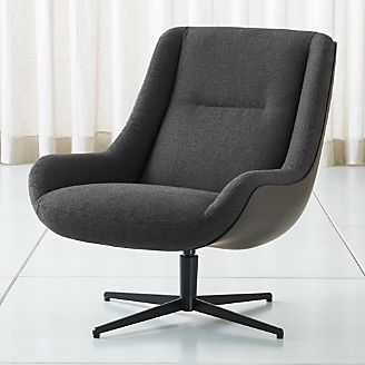 Lovebird Charcoal Swivel Chair