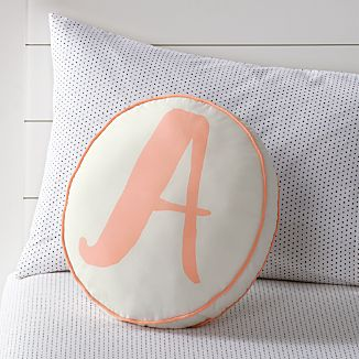 initial and letter pillows   crate and barrel What Is a Throw Pillow