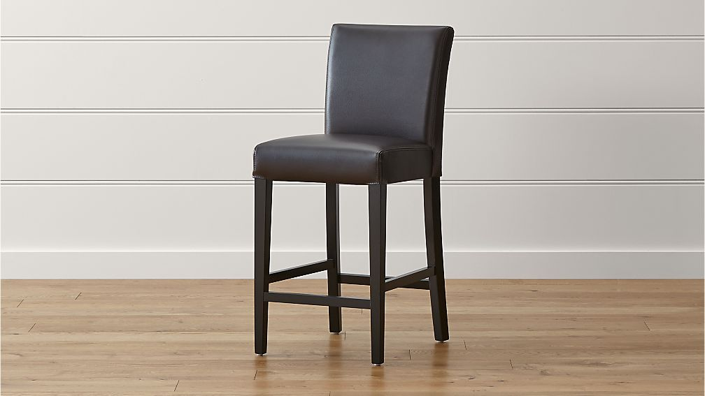 Lowe Chocolate Leather Counter Stool