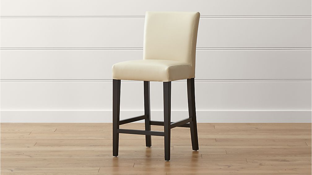 Lowe Ivory Leather Counter Stool Reviews Crate And Barrel