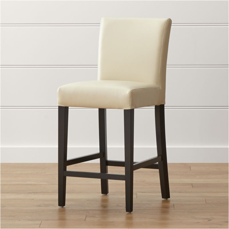 lowe ivory leather counter stool - Leather Counter Stools