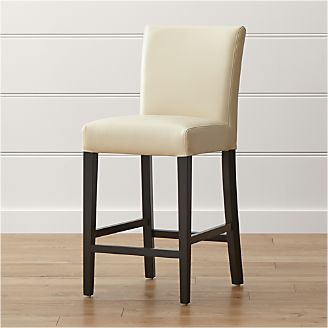 Lowe Ivory Leather Counter Stool & Bar Stools and Counter Stools | Crate and Barrel islam-shia.org