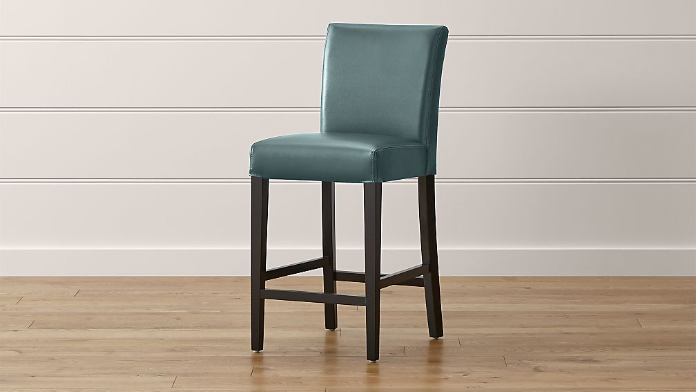 Lowe Ocean Leather Counter Stool Reviews Crate And Barrel