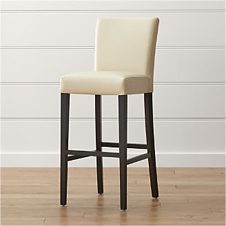 Lowe Ivory Leather Bar Stool & Bar Stools and Counter Stools | Crate and Barrel islam-shia.org
