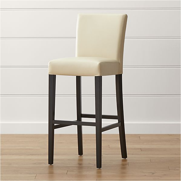 Lowe Ivory Leather Bar Stool