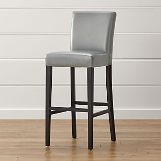 Lowe Pewter Leather Bar Stool