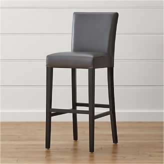 Lowe Smoke Leather Bar Stool & Bar Stools and Counter Stools | Crate and Barrel islam-shia.org