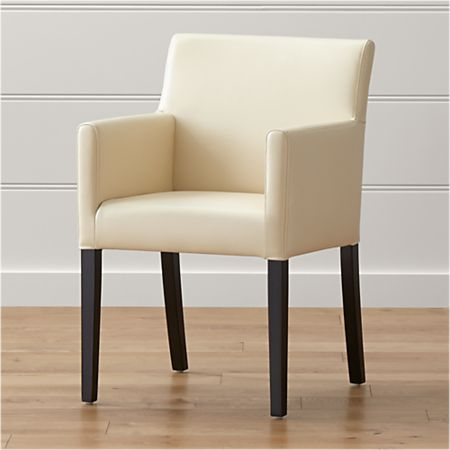 Awe Inspiring Lowe Ivory Leather Dining Arm Chair Pdpeps Interior Chair Design Pdpepsorg