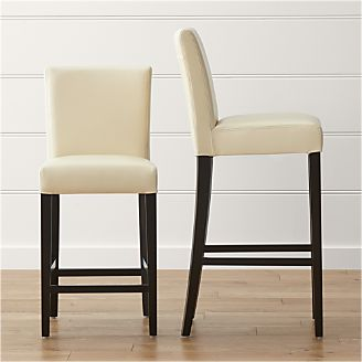 Lowe Ivory Leather Bar Stools