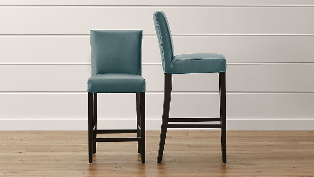 Lowe Ocean Leather Bar Stools - Image 1 of 5