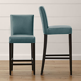 Lowe Ocean Leather Bar Stools