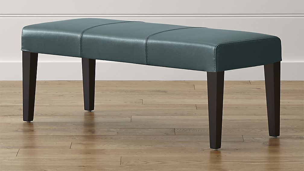 Lowe Ocean Leather Backless Bench - Image 1 of 5