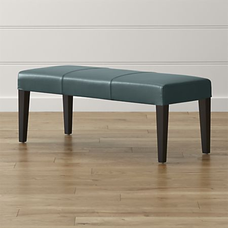Lowe Ocean Leather Backless Bench Reviews Crate And Barrel