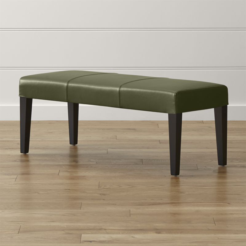 Lowe Olive Leather Backless Bench Reviews Crate And