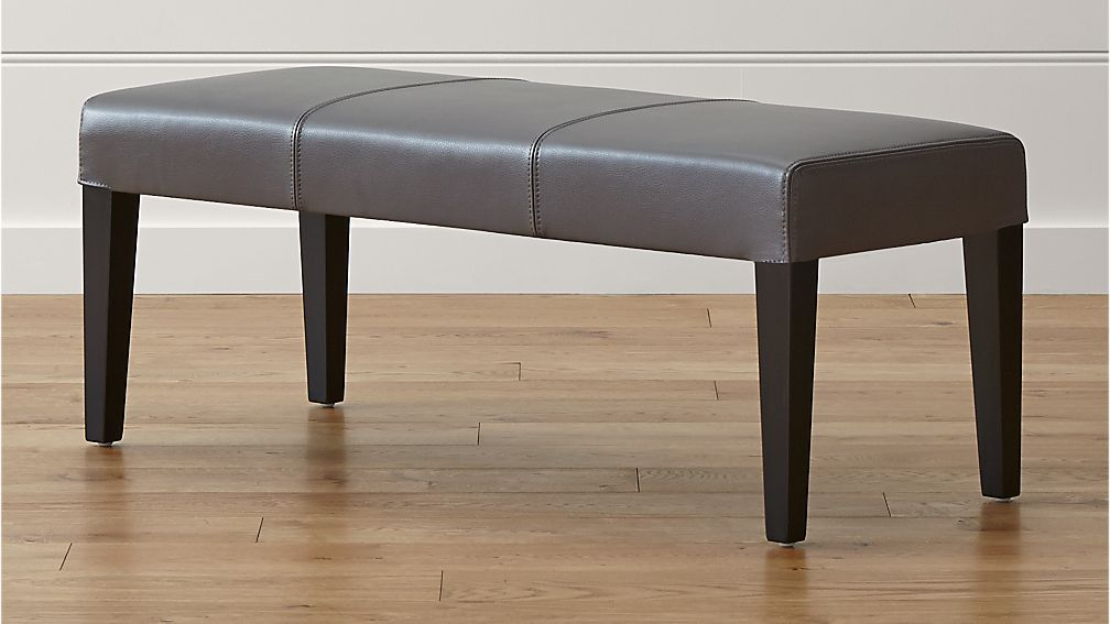 Lowe Smoke Leather Backless Bench - Image 1 of 8