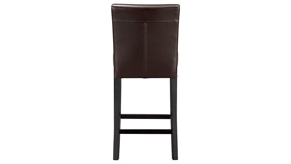 Lowe Chocolate Leather Bar Stool