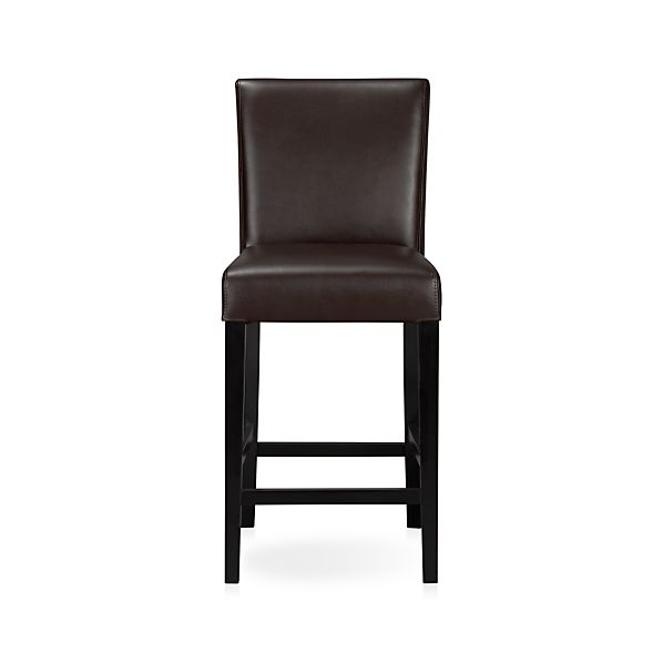 "Lowe Chocolate 24"" Leather Bar Stool"