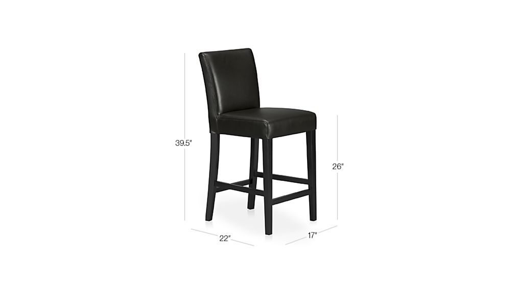 Lowe Onyx Leather Counter Stool Reviews Crate And Barrel