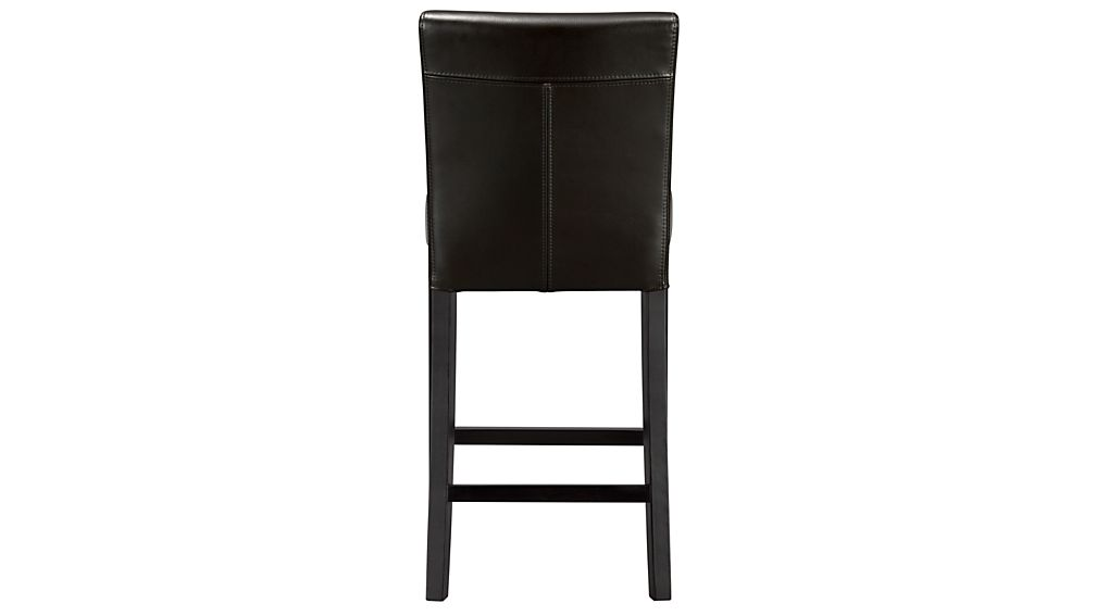 Lowe Onyx Leather Counter Stool