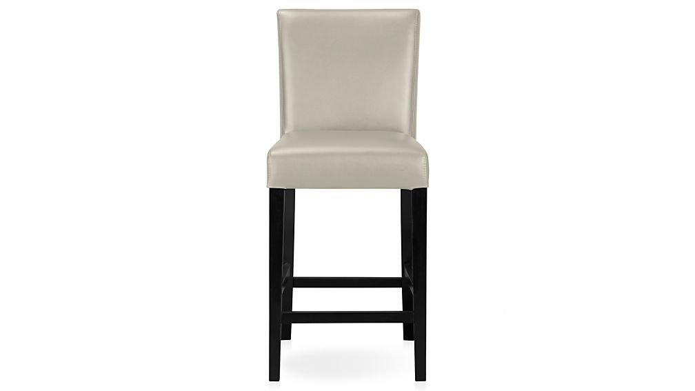 Lowe Pewter Leather Counter Stool