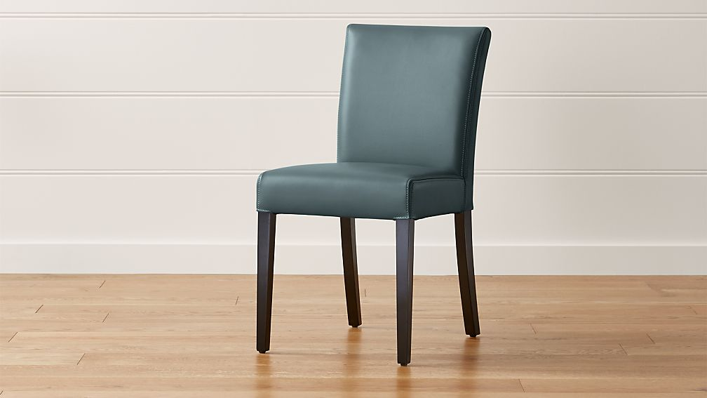 Lowe ocean leather dining chair crate and barrel - Crate and barrel parsons chair ...