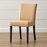 Lowe Café Latte Leather Dining Chair