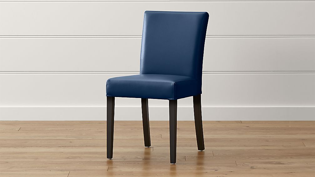 lowe navy leather dining chair - Navy Chair