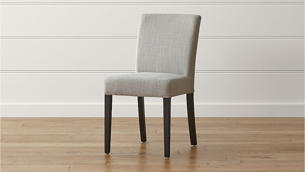 Lowe Pewter Upholstered Dining Chair Crate and Barrel