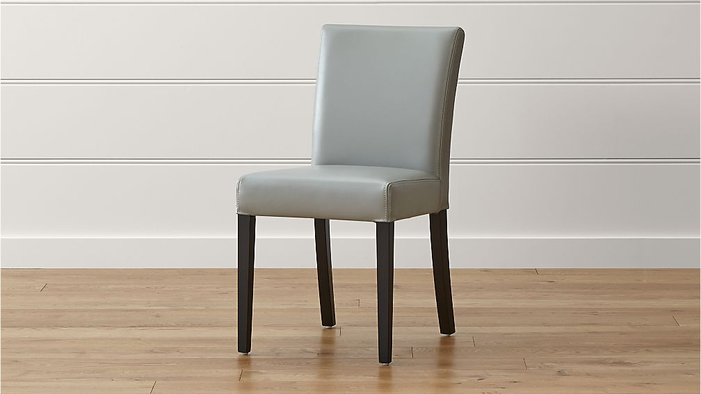 Lowe Pewter Leather Dining Chair - Image 1 of 10