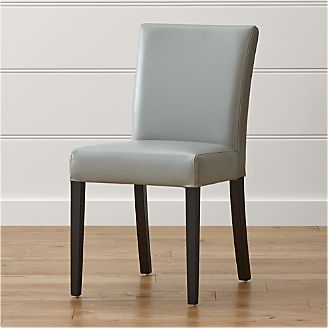 Lowe Pewter Leather Dining Chair & Shop Dining Chairs u0026 Kitchen Chairs | Crate and Barrel