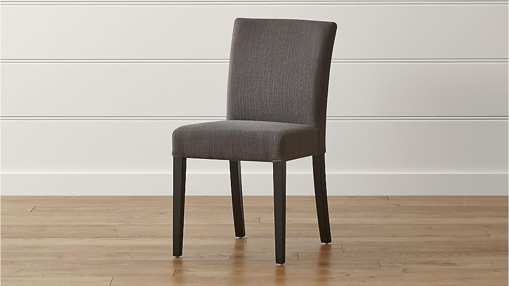 Lowe smoke upholstered dining chair crate and barrel - Crate and barrel parsons chair ...