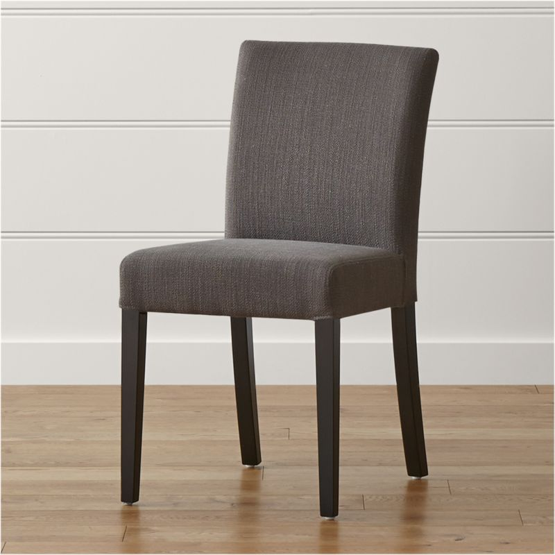 Dining Chair Top View lowe smoke upholstered dining chair | crate and barrel