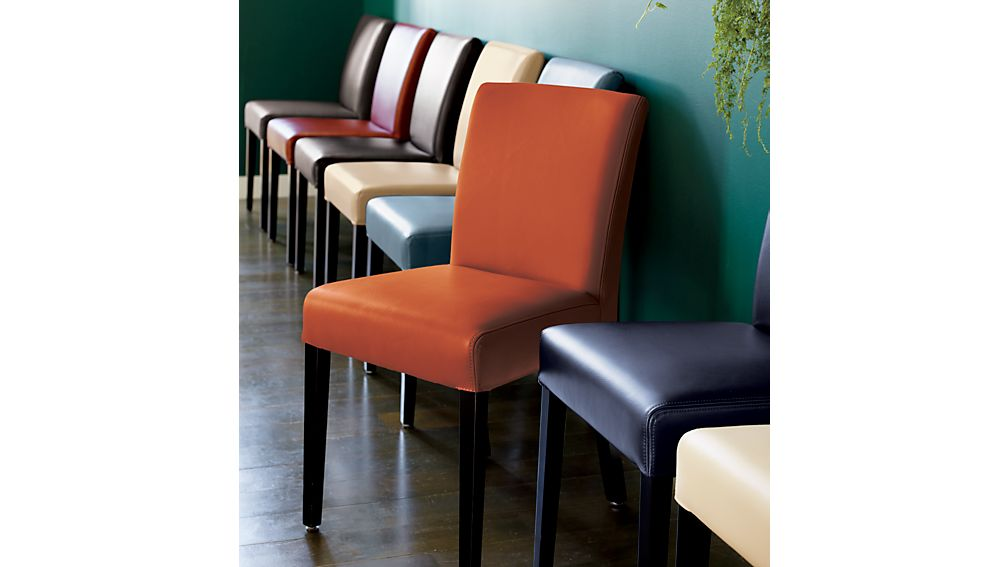 Lowe Red Leather Dining Chair