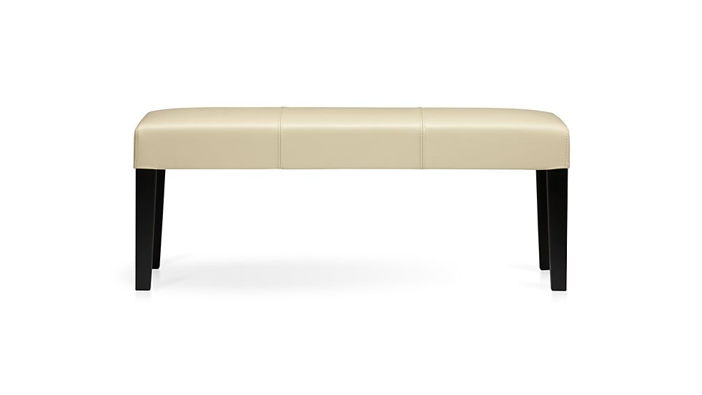 rate furniture brands. lowe ivory leather backless bench rate furniture brands