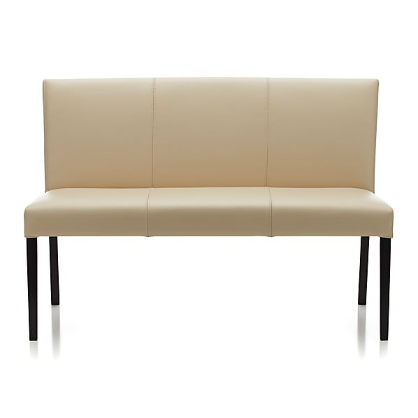 Lowe Ivory Leather Bench