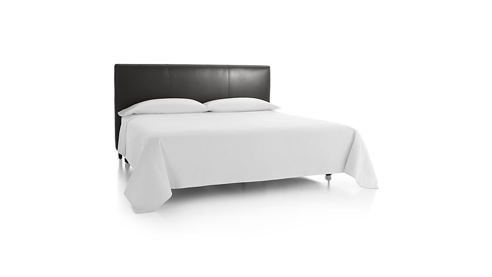Lowe Smoke Grey Leather King Headboard