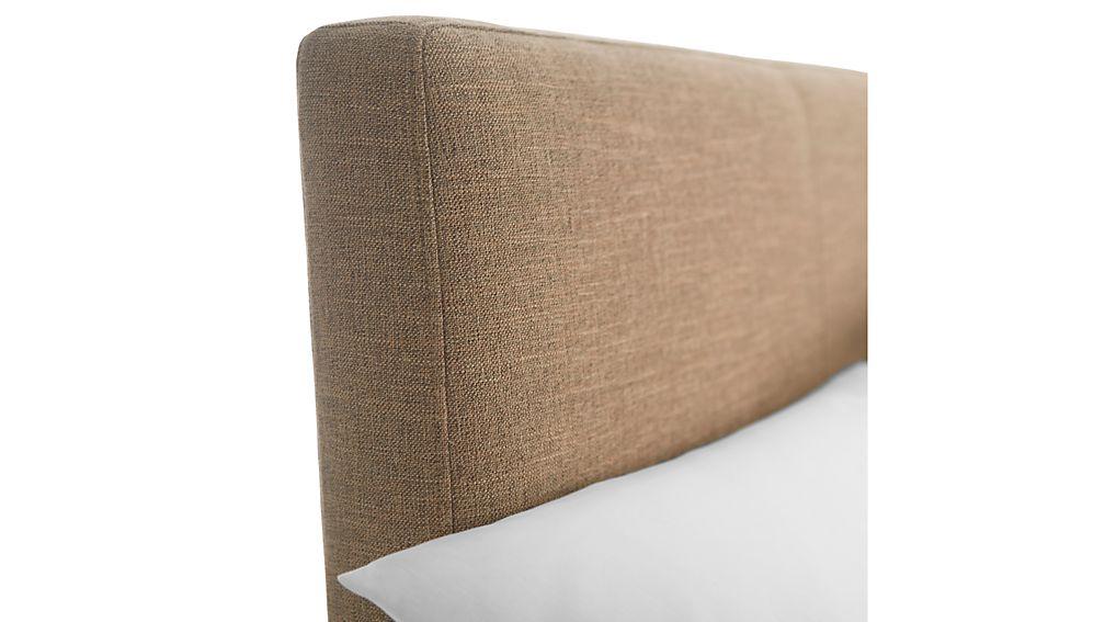Lowe Khaki Upholstered Queen Headboard