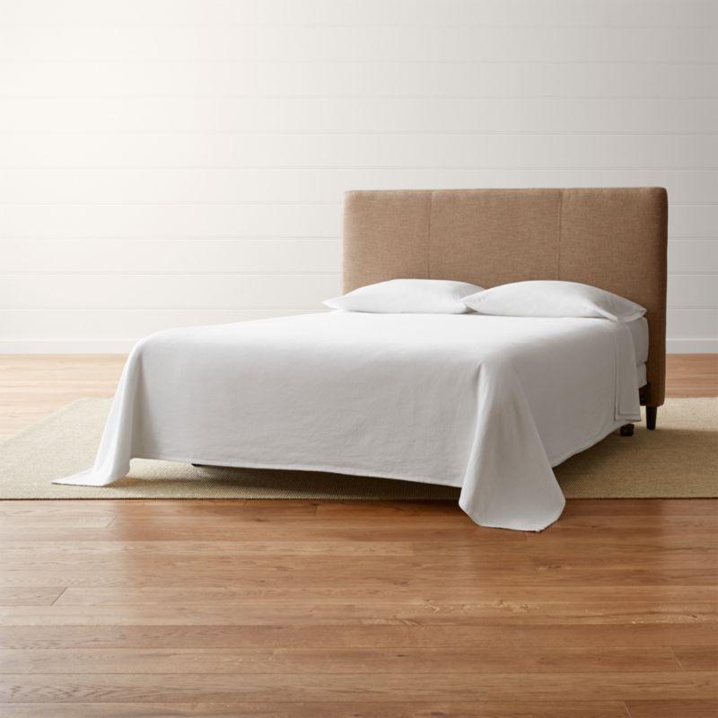 Lowe Khaki Upholstered Headboard