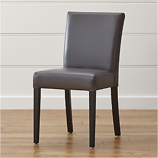 Lowe Smoke Leather Dining Chair