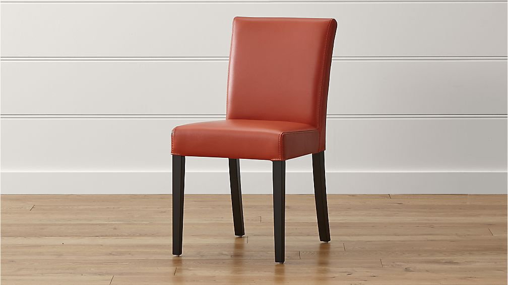 Lowe Persimmon Leather Dining Chair Reviews Crate And