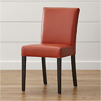 Lowe Persimmon Leather Dining Chair