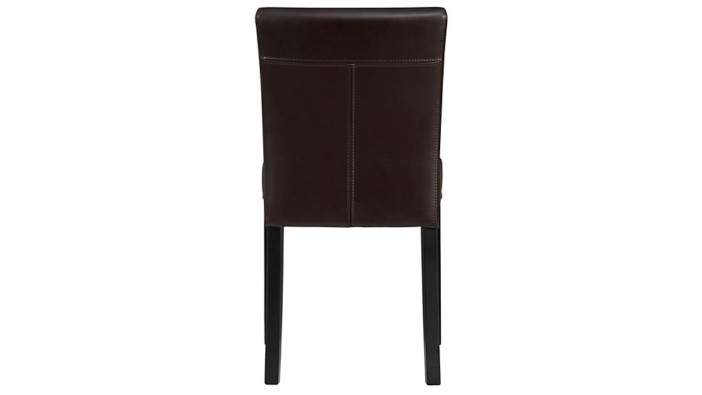 Lowe Chocolate Leather Dining Chair