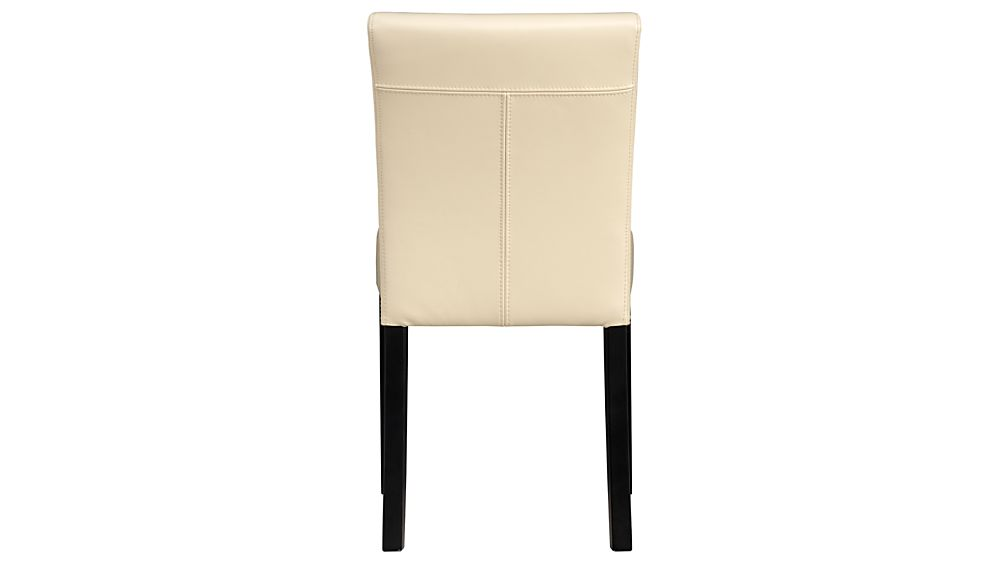 Lowe Ivory Leather Dining Chair